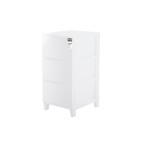 Houze - 3-Tier 'Knock Down' Compact Cabinet