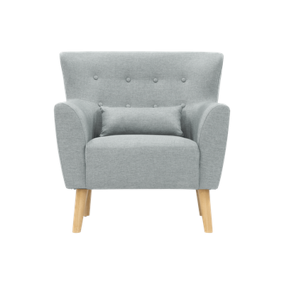 (As-is) Sofia Armchair - Silver -2 - Image 1