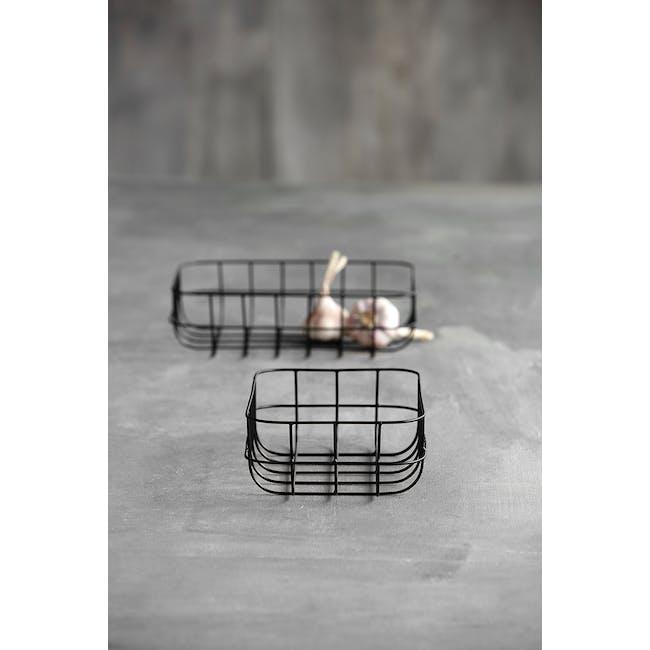 Diana Low Wire Basket - Black (Set of 2) - 3
