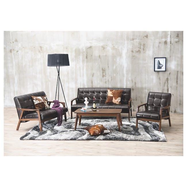 Tucson 3 Seater Sofa with Tucson Armchair - Chestnut (Fabric) - 2