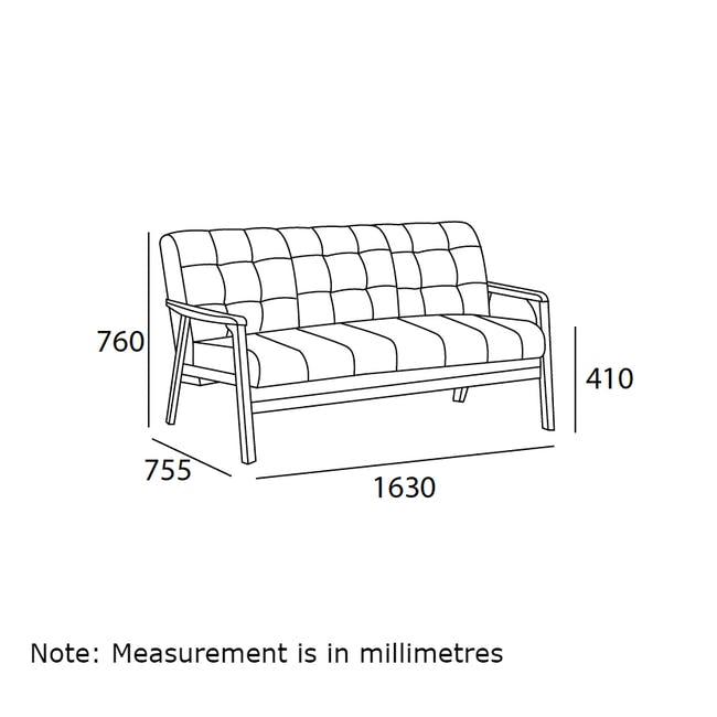 Tucson 3 Seater Sofa with Tucson Armchair - Chestnut (Fabric) - 6