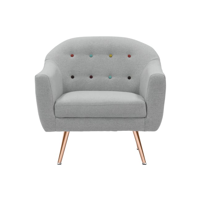 (As-is) Arden Armchair- Rose Gold, Slate -1 - 0