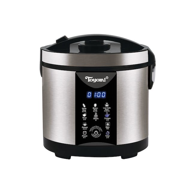 TOYOMI 1.8L Micro-com Low-Carb Stainless Steel Rice Cooker RC 4348 - 0