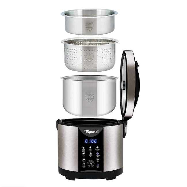 TOYOMI 1.8L Micro-com Low-Carb Stainless Steel Rice Cooker RC 4348 - 1