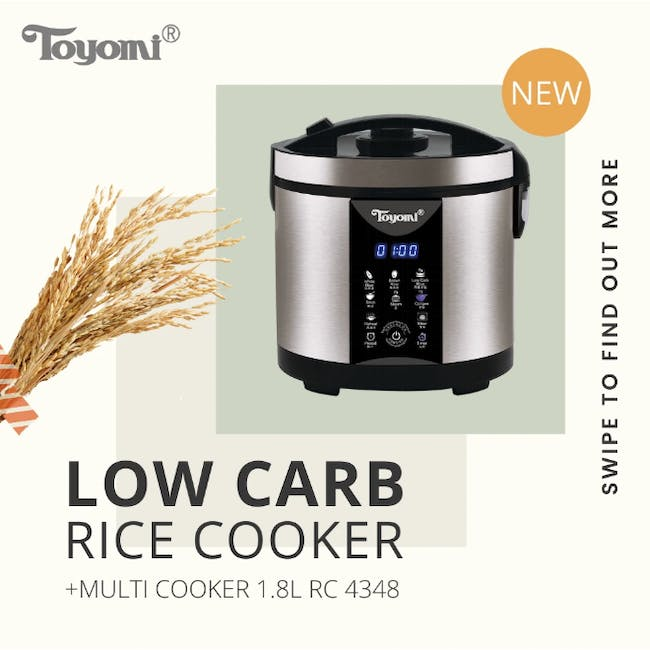TOYOMI 1.8L Micro-com Low-Carb Stainless Steel Rice Cooker RC 4348 - 3