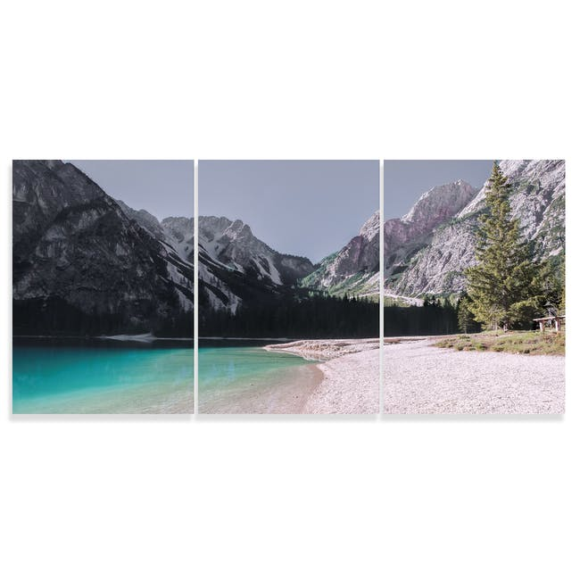 Tranquility Art Print on Stretched Canvas 50cm by 70cm - Set of 3 - 0