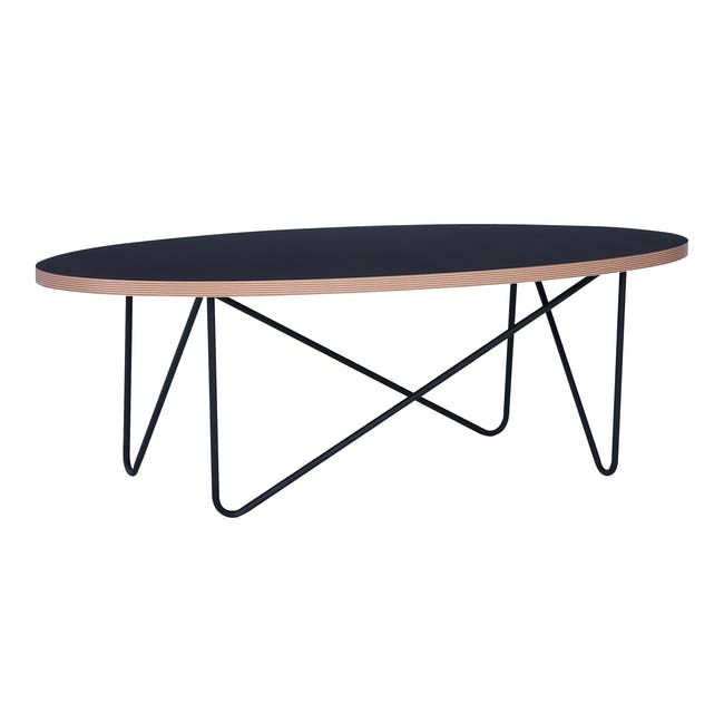 Seifer Coffee Table with Apollo Stool/Occasional Table in Black - 7