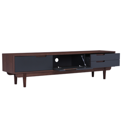 Larisa TV Console 1.8m - Grey, Walnut - Image 2