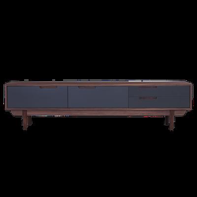 Larisa TV Console 1.8m - Grey, Walnut - Image 1
