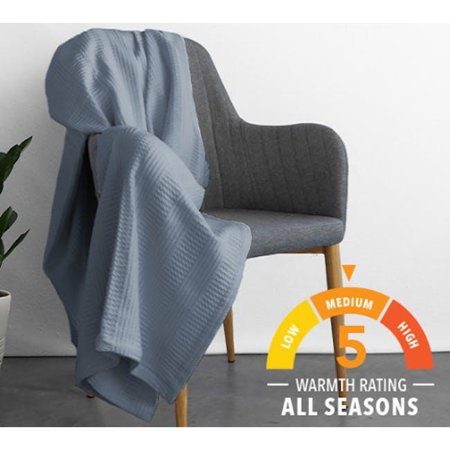 Canningvale Corda Blanket - Artesian Blue (2 Sizes) - 1