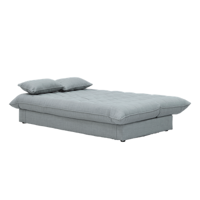 Tessa L Shape Storage Sofa Bed - Silver - Image 2