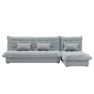 Tessa L Shape Storage Sofa Bed - Silver - Image 1