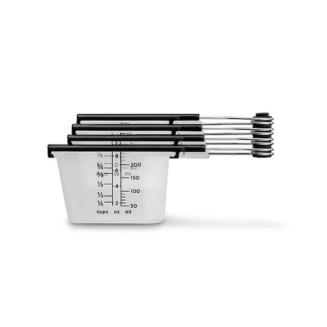 Dreamfarm Levups Scrape Level Measuring Cups - Black - 0