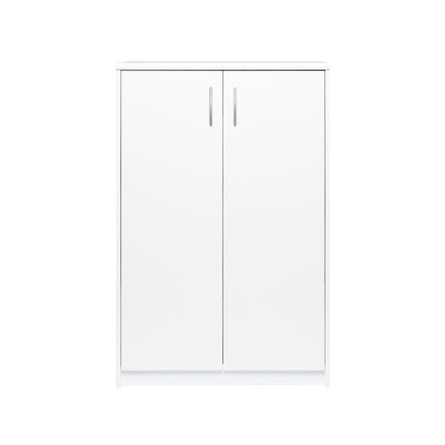 Levi 2-Door Shoe Cabinet - White - 0