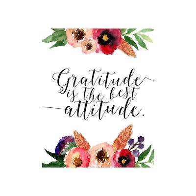 Gratitude Is The Best Attitude Canvas Art Print