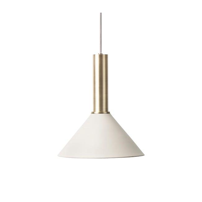 Chloe Pendant Lamp - Brass, Light Grey - 0