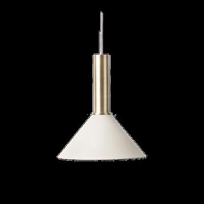 Chloe Pendant Lamp - Brass,Light Grey - Image 1