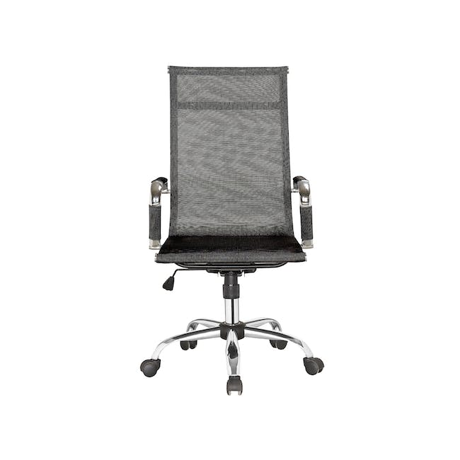 (As-is) Eames High Back Mesh Office Chair Replica - Black - 1 - 0