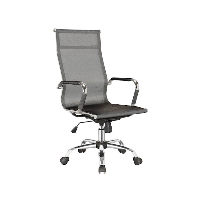 (As-is) Eames High Back Mesh Office Chair Replica - Black - 1 - 19