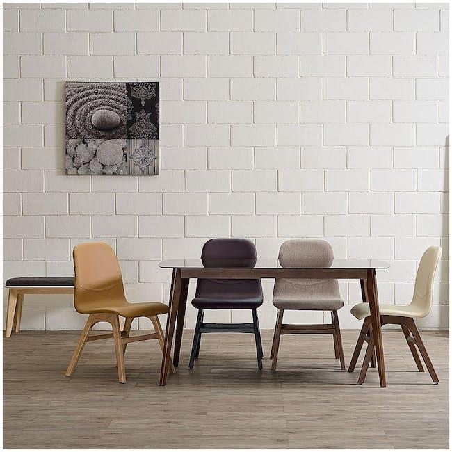 Ava Dining Chair - Black Ash, Ruby - 5