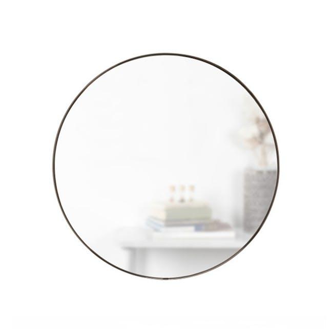 Hubba Round Mirror 86 cm - Chrome - 0