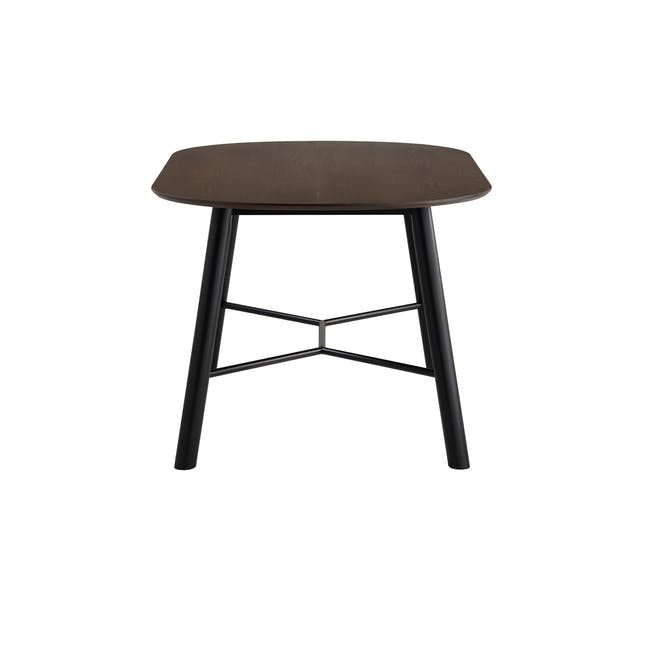 Telyn Oval Dining Table 1.6m with 4 Jake Dining Chairs in Oyster Grey and Carbon - 3