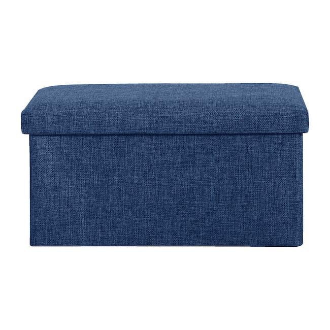 Domo Foldable Storage Bench Ottoman - Blue - 1