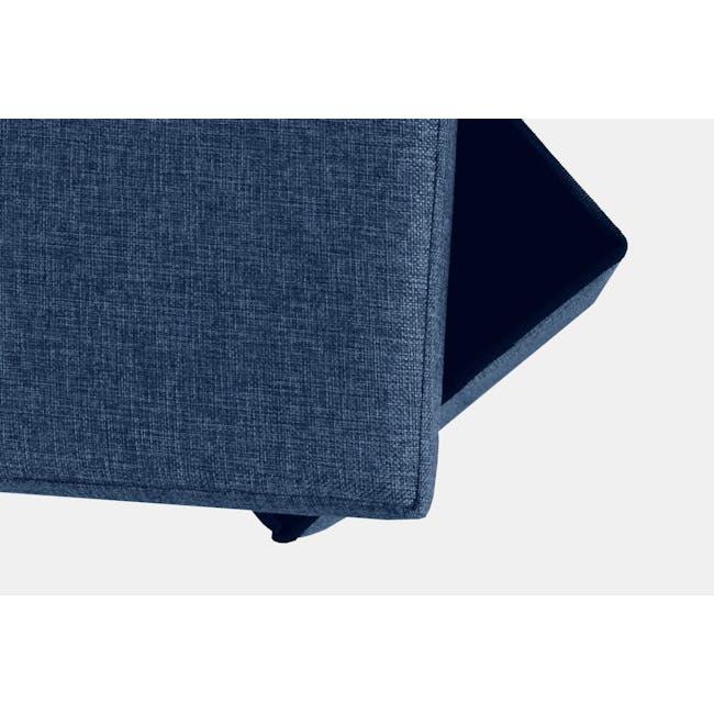 Domo Foldable Storage Bench Ottoman - Blue - 2
