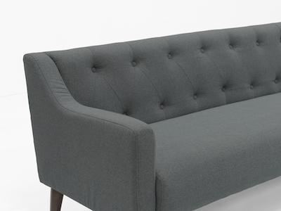 Xavier3 Seater Sofa - Slate - Image 2