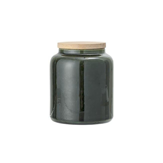 Sage Storage Jar with Lid - Green - 0