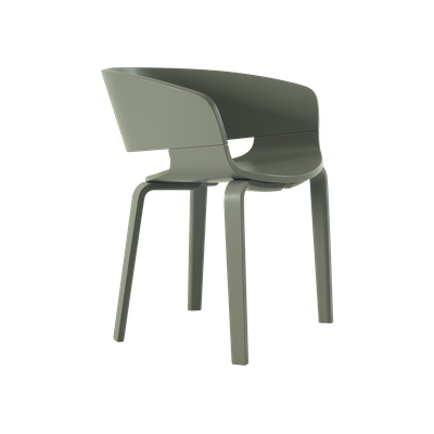 (As-is) Huela Dining Chair - Grey Lacquered - 1 - Image 1