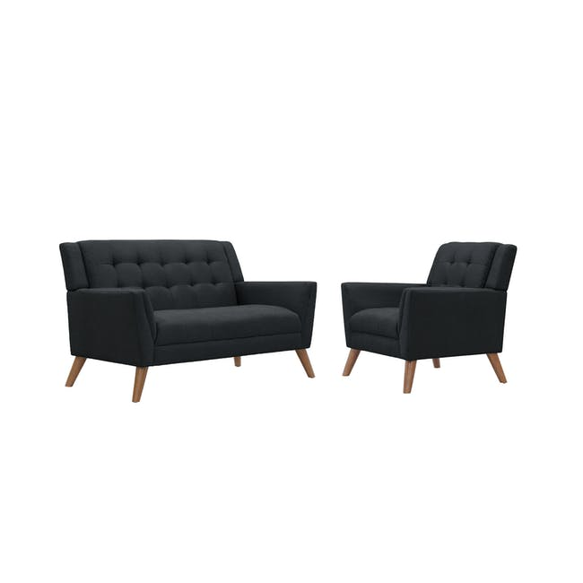 Stanley 2 Seater Sofa with Stanley Armchair - Orion - 0