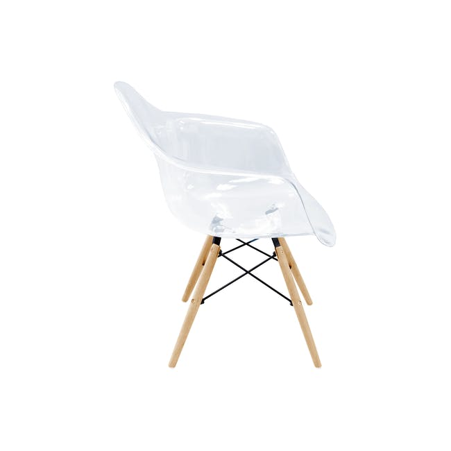 DAW Chair Replica - Natural, Clear - 7