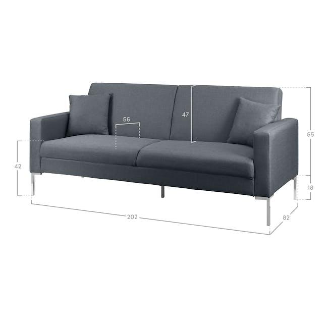 Leslie Sofa Bed - Hailstorm (Fabric) - 7