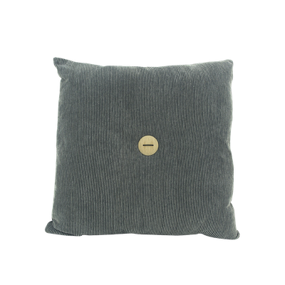 Distintivo Square Cushion - Liquorice, Down Feathers (Crash Fabric) - Image 1