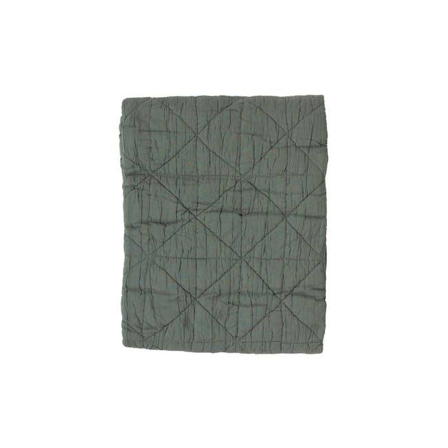 Feldo Throw 130 x 170 cm - Leaf Green - 0