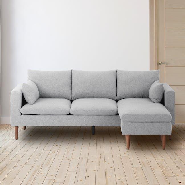Alicia L-Shaped Sofa - Ivory - 1