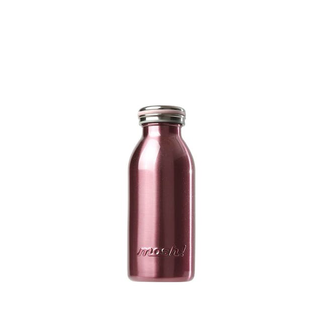 MOSH! Double-walled Stainless Steel Bottle 350ml - Pearl Pink - 0