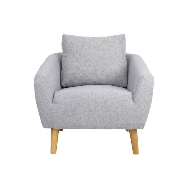 Hana 2 Seater Sofa with Hana Armchair - Light Grey - 1