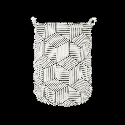 Cubes Laundry Basket - White - Image 2