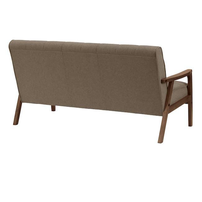 Tucson 3 Seater Sofa with Tucson Armchair - Chestnut (Fabric) - 3