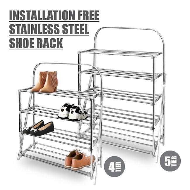 4-Tier Stainless Steel Shoe Rack - 3