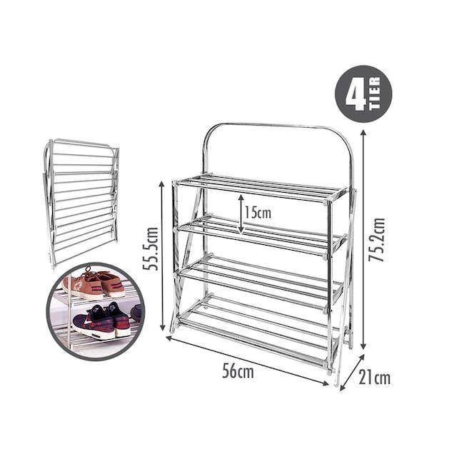 4-Tier Stainless Steel Shoe Rack - 1