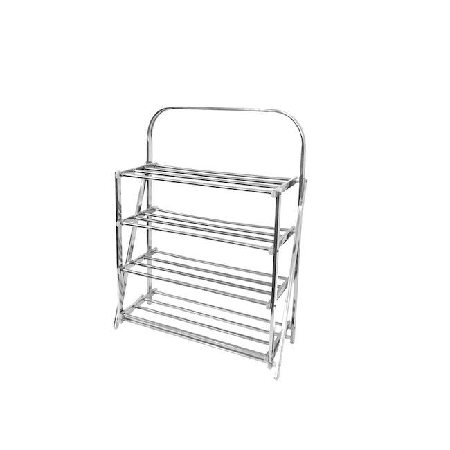 4-Tier Stainless Steel Shoe Rack - 0