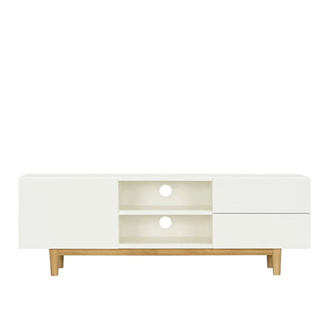 Aalto TV Cabinet 1.6m - White, Natural - 0