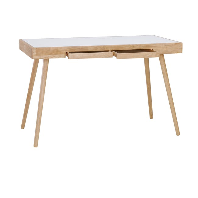 Reth Study Table - White, Natural - 3