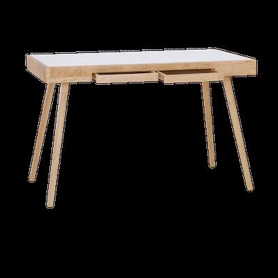 Reth Working Desk - White, Natural - Image 2