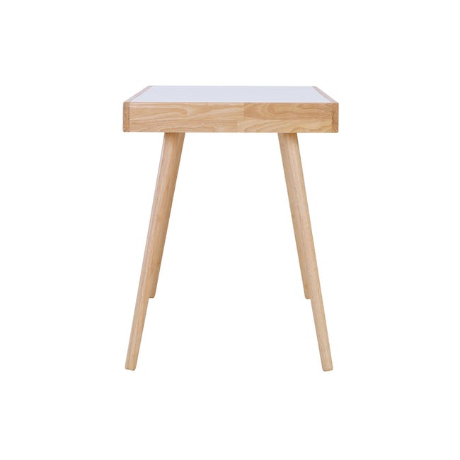 Reth Study Table - White, Natural - 4