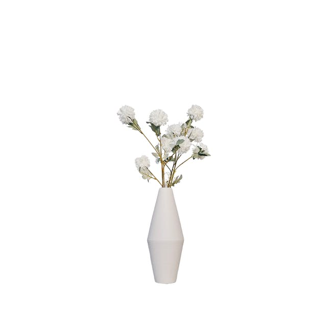 Diamond Floral Clay Vase - Design 1 - 0