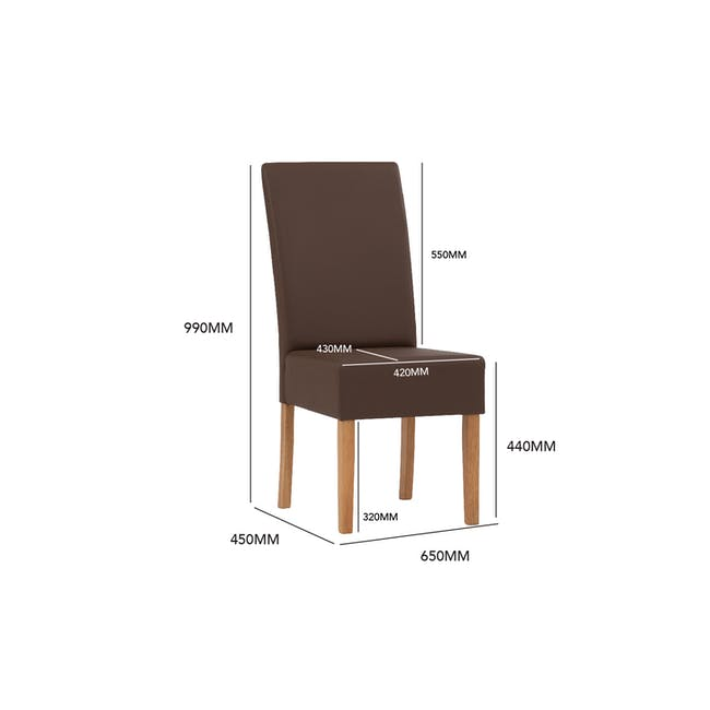 Nora Dining Chair - Cocoa, Chestnut - 4